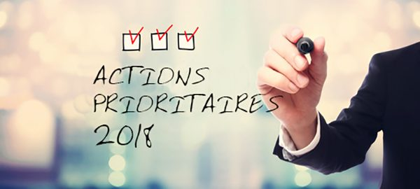 Actions prioritaires 2018